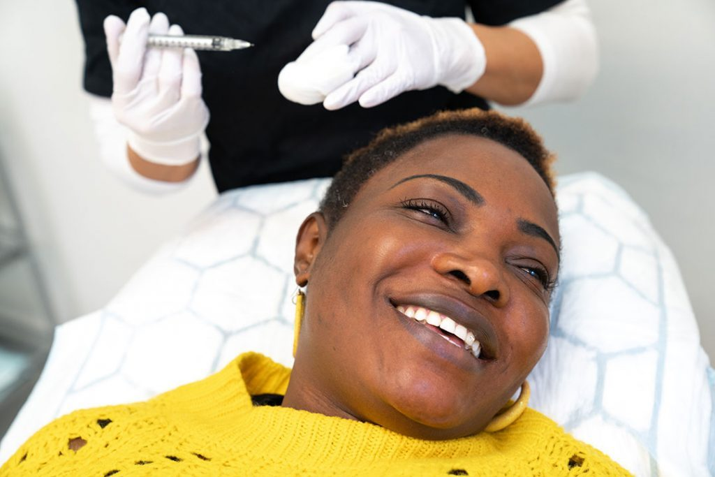 PRP treatment on patient with African hair after hair transplant